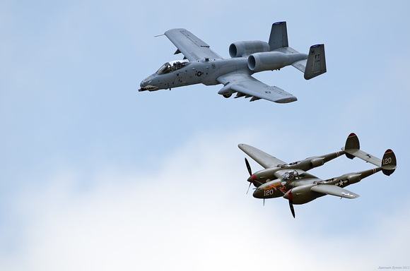 The Horsemen and their P-51 Mustang and P-38 Lightning